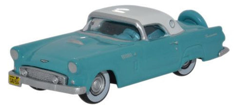 Oxford Diecast Ford Thunderbird 1956 Peacock Bluel_Colonial White - 1: