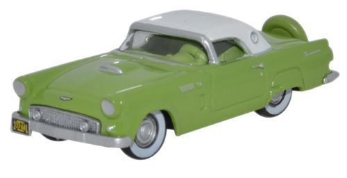 Oxford Diecast Ford Thunderbird 1956 Sage Green_Colonial White - 1:87