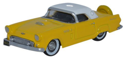 Oxford Diecast 1956 Ford Thunderbird Goldenglow Yellow/Colonial White - OxfordDiecast