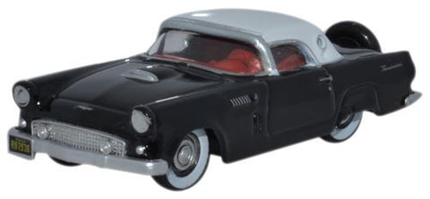 Oxford Diecast 1956 Ford Thunderbird Raven Black_Colonial White - 1:87 - OxfordDiecast