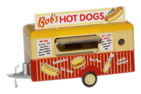 Oxford Diecast Bobs Hot Dogs Mobile Trailer - 1:87 Scale