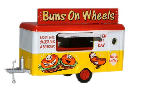 Oxford Diecast Mobile Trailer Buns on Wheels - 1:87 Scale