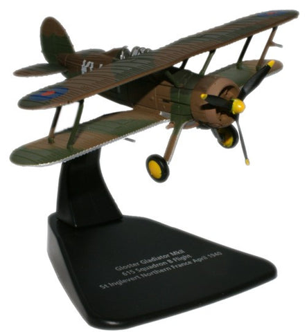 Oxford Diecast Gloster Gladiator 1:72 Scale Model Aircraft