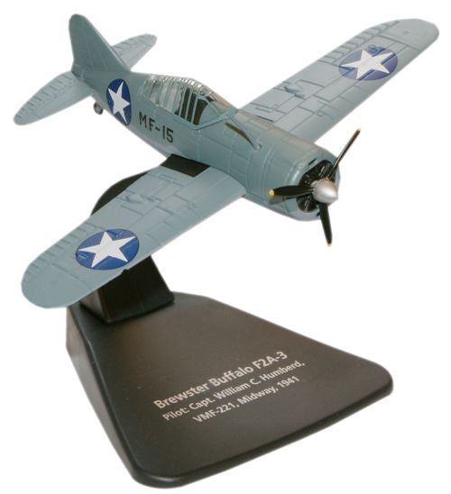 Oxford Diecast Brewster Buffalo F2A-3 1:72 Scale Model Aircraft