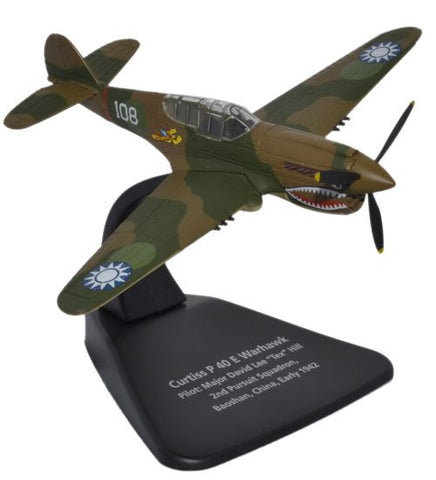 Oxford Diecast Curtiss P40E Warhawk 1:72 Scale Model Aircraft
