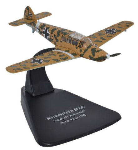 Oxford Diecast Bf108 Rommels Desert 1942 1:72 Scale Model Aircraft
