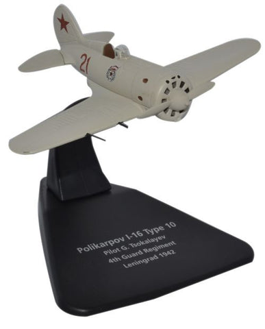 Oxford Diecast Polikarpov I-16 4th Guard Reg Leningrad 1942 1:72 Sca