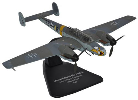 Oxford Diecast Me 110G JG1 Wespen Geschwader 1:72 Scale Model Aircraft