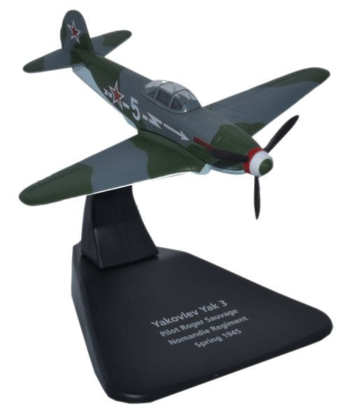 Oxford Diecast Yak 3 Normandie Regiment 1945 1:72 Scale Model Aircraft