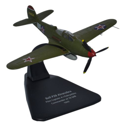 Oxford Diecast Airacobra Pokryshkin 1943 1:72 Scale Model Aircraft