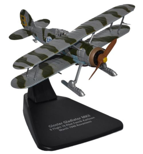 Oxford Diecast Gloster Gladiator with Skis  1:72 Scale Model Aircraft