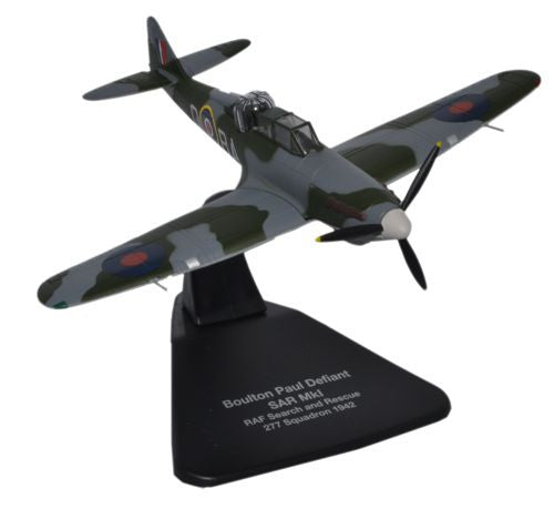 Oxford Diecast Boulton Paul Defiant RAF 1:72 Scale Model Aircraft