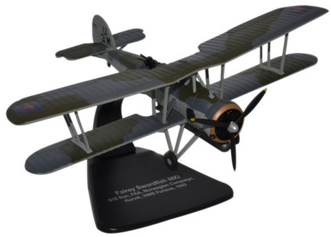 Oxford Diecast Fairey Swordfish HMS Furious 1:72 Scale Model Aircraft