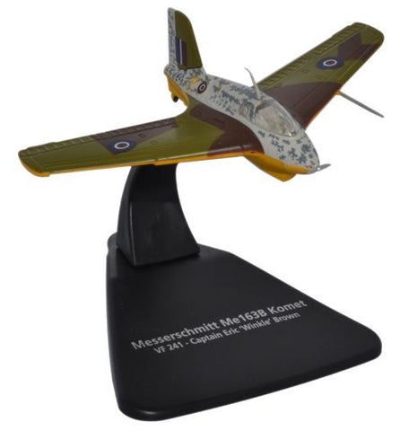 Oxford Diecast Eric Winkle Brown Me163B 1:72 Scale Model Aircraft