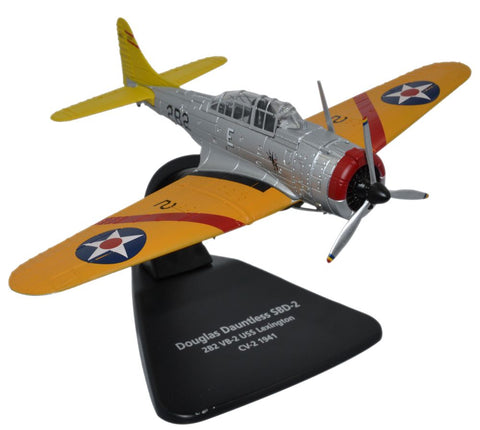Oxford Diecast Douglas Dauntless Black 2B2 USS Lexington