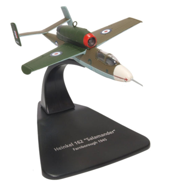 Oxford Diecast Heinkel HE162 RAF 1:72 Scale Model Aircraft