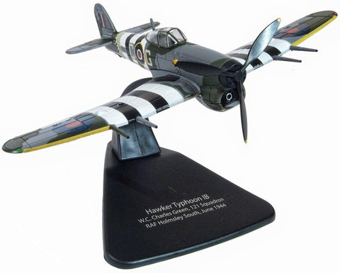 AC100 1:72 Scale Oxford Diecast 121 Squadron RAF Holmsley South 1944 Hawker Typhoon Mk1