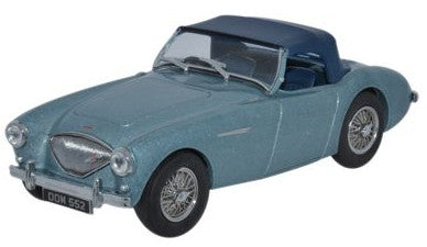 Oxford Diecast Austin-Healey 100 BN1 [Hood] Healey Blue - 1:43 Scale