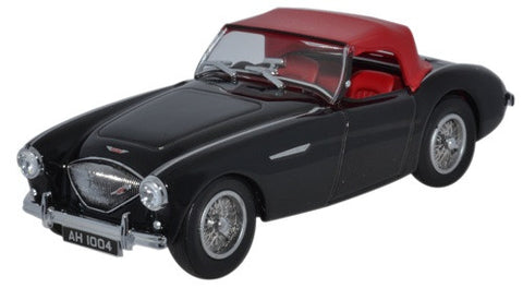 Oxford Diecast Austin-Healey 100 BN1 Black and Red Closed