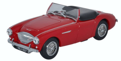 Oxford Diecast Austin Healey 100 BN1 Roof Down Carmine Red