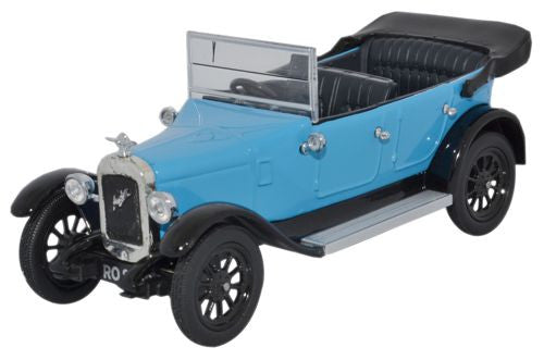 Oxford Diecast Austin Heavy Twelve Kingfisher Blue - 1:43 Scale