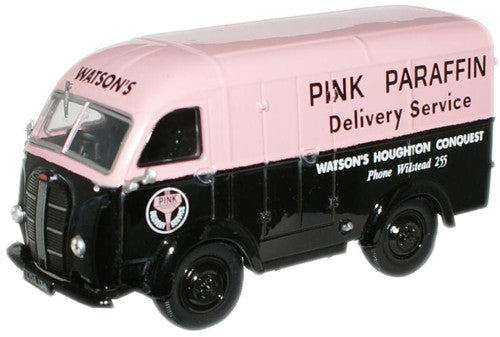 Oxford Diecast Pink Paraffin Austin 3 Way Van - 1:43 Scale
