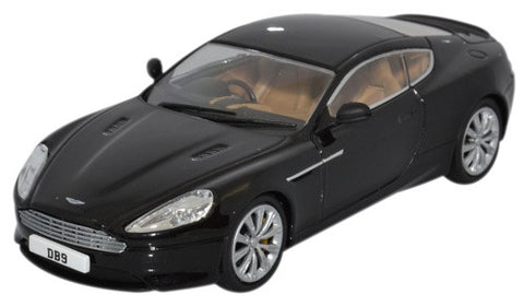 Oxford Diecast Aston Martin DB9 Coupe Onyx Black - 1:43 Scale