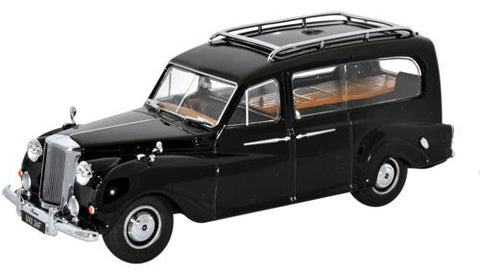 Oxford Diecast Austin Princess Hearse Black - 1:43 Scale