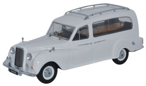 Oxford Diecast Austin Hearse White - 1:43 Scale