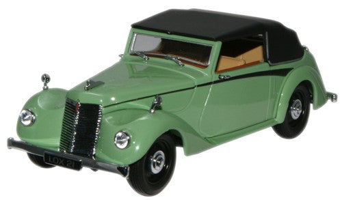 Oxford Diecast Green Armstrong Siddeley Hurricane (Closed) - 1:43 Scal