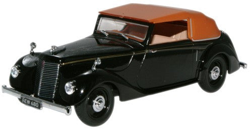 Oxford Diecast Armstrong Siddeley Hurricane Closed Black - 1:43 Scale