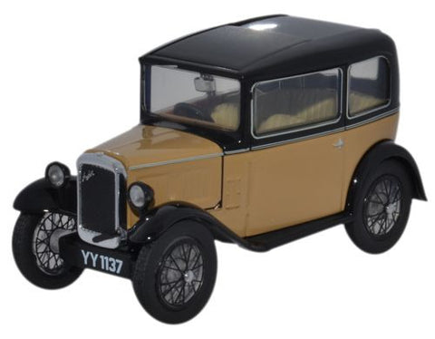 Oxford Diecast Austin Seven RN Saloon Fawn - 1:43 Scale