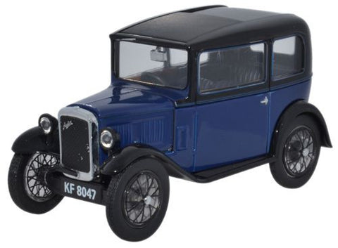 Oxford Diecast Austin Seven RN Saloon Light Royal Blue - 1:43 Scale