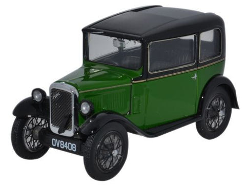 Oxford Diecast Austin Seven RN Saloon Westminster Green - 1:43 Scale