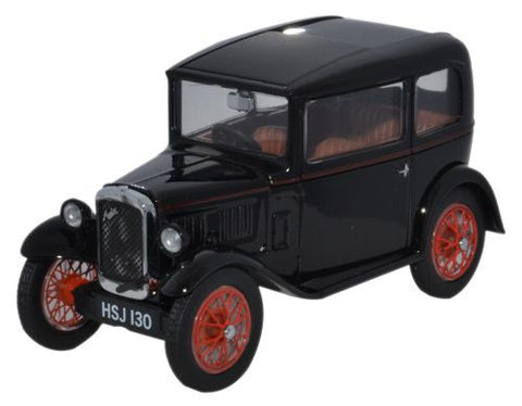 Oxford Diecast Austin Seven RN Saloon Black Red