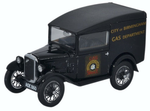 Oxford Diecast Austin Seven RN Van City Of Birmingham Gas Dept