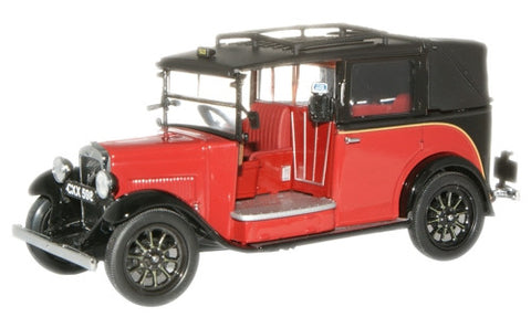 Oxford Diecast Burgundy Austin Low Loader Taxi - 1:43 Scale
