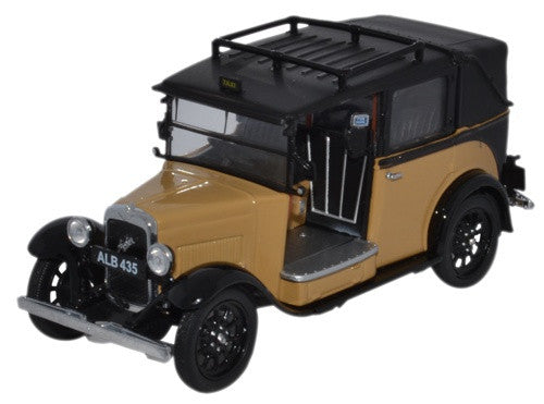 Oxford Diecast Austin Low Loader Taxi Fawn - 1:43 Scale