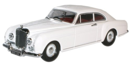 Oxford Diecast Olympic White Bentley Continental - 1:43 Scale