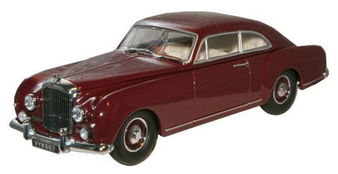 Oxford Diecast Maroon Bentley Continental S1 Fastback - 1:43 Scale