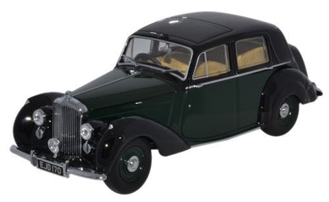 Oxford Diecast Bentley MkVI Brewster Green_Black - 1:43 Scale