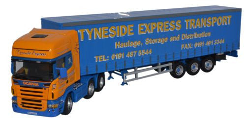 CARARAMA Scania Topline with Tyneside Express - 1:50 Scale - OxfordDiecast