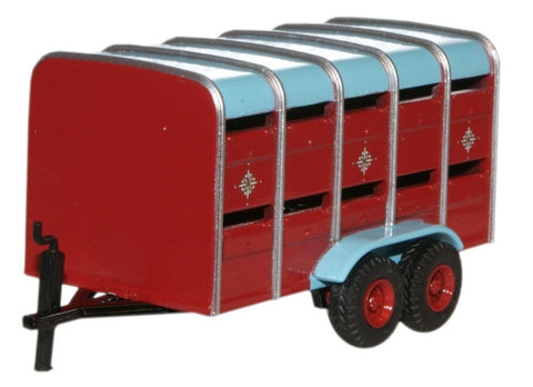 Oxford Diecast Livestock Trailer - 1:76 Scale