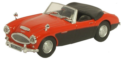 CARARAMA Cararama Red/Black Austin Healey - 1:43 Scale - OxfordDiecast