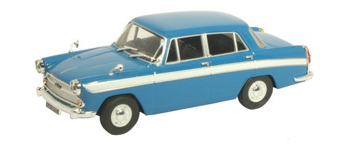 CARARAMA Cararama Persian Blue/White Austin Cambridge - 1:43 Scale - OxfordDiecast