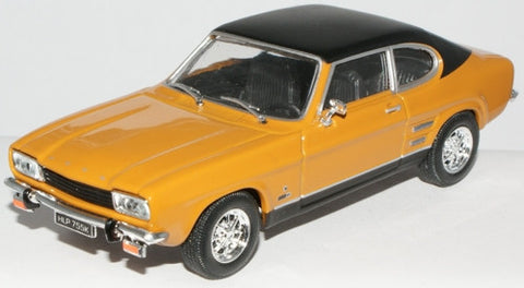 CARARAMA Ford Capri MK 1 Maize Yellow/Black - 1:43 Scale - OxfordDiecast