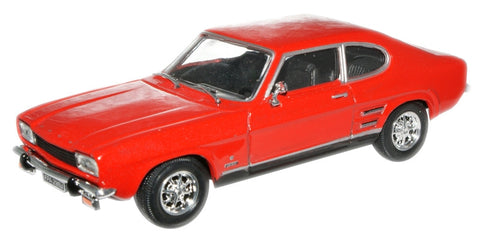 CARARAMA Ford Capri Mk 1 Sunset Red - 1:43 Scale - OxfordDiecast