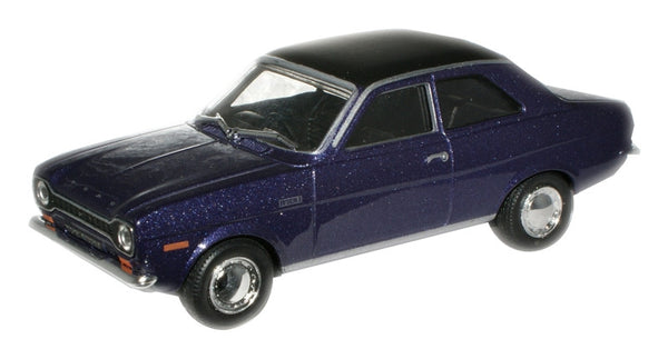 CARARAMA Ford Escort  MK 1 1300E Purple - 1:43 Scale - OxfordDiecast