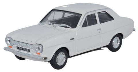 CARARAMA Ford Escort MK1 Ermine White - 1:43 Scale - OxfordDiecast