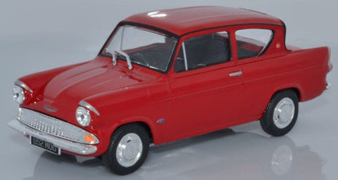 CARARAMA Ford Anglia 105E Saloon Monaco Red - 1:43 Scale - OxfordDiecast